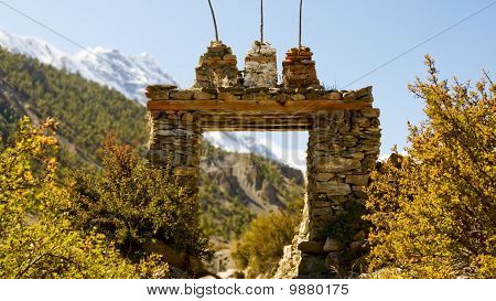 For most of the Himalayan villages enter through the gate