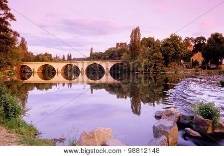 Saalfeld, bridge Over Saale River