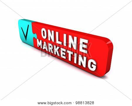 3D red button to commercial online sites.