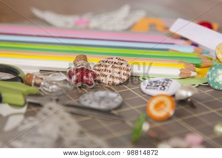 Materials, Tools And Supplies For Scrapbooking And Art