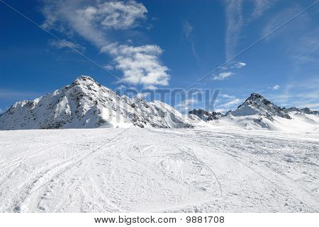 Mountain in winter