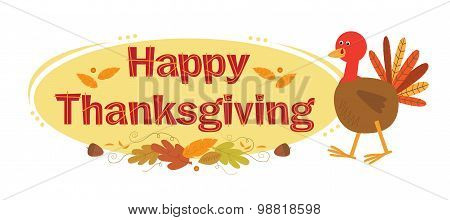 Thanksgiving Sign With Background