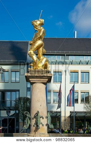 Market Fountain Showing St. George, Eisenach, Germany