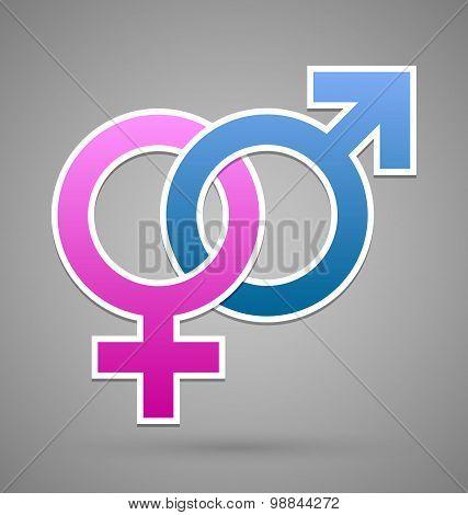 Venus And Mars Female And Male Symbol
