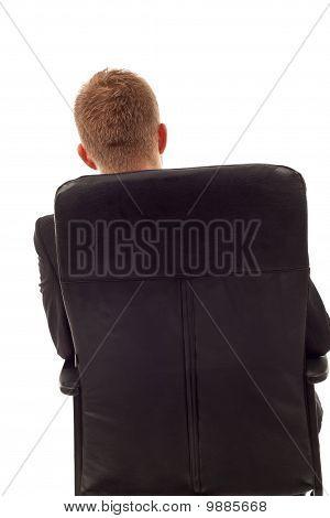 Businessman Back Seated
