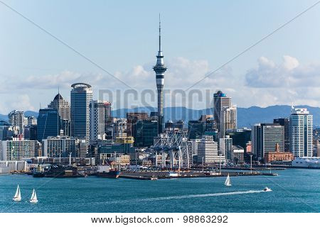 Auckland The Capital Of New Zealand With Its Impressive Skyline