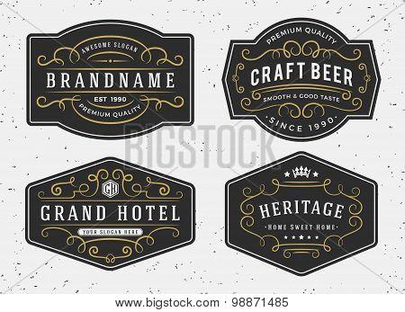Flourish calligraphy frame design for labels, banner, logo, emblem, menu, sticker and other design