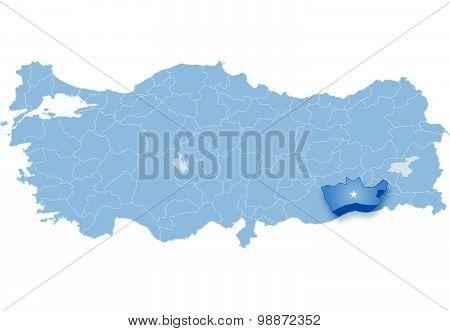 Map Of Turkey, Mardin