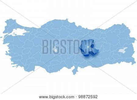 Map Of Turkey, Malatya