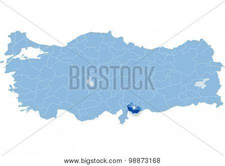 Map Of Turkey, Kilis
