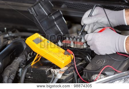 Car Mechanic With A Tablet
