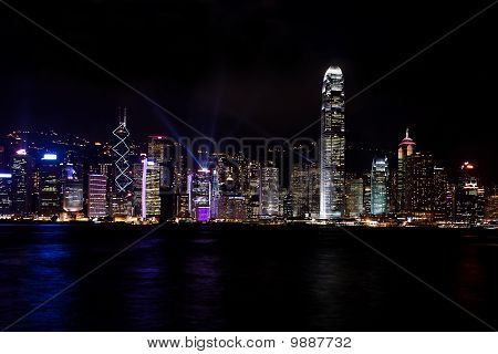 Hongkong sky line by night and SOL