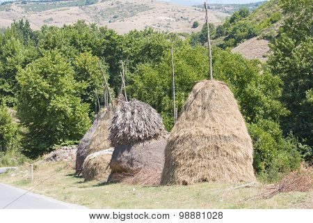 Hand Made Bales Of Hay