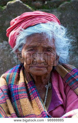 Nepalese Aged Woman