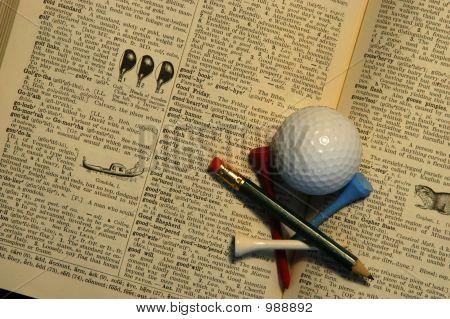 Dictionary, Golf Ball, Tees 2