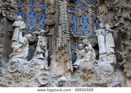 Nativity Fa?ade Of Sagrada Familia Temple, Barcelona,catalonia, Spain