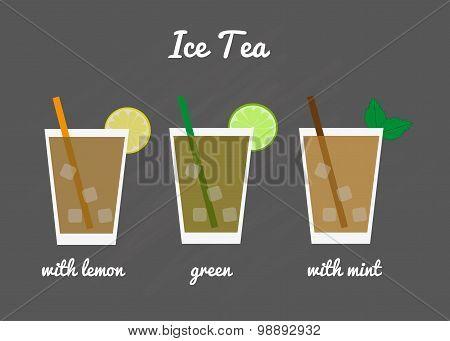 Ice Tea Menu.