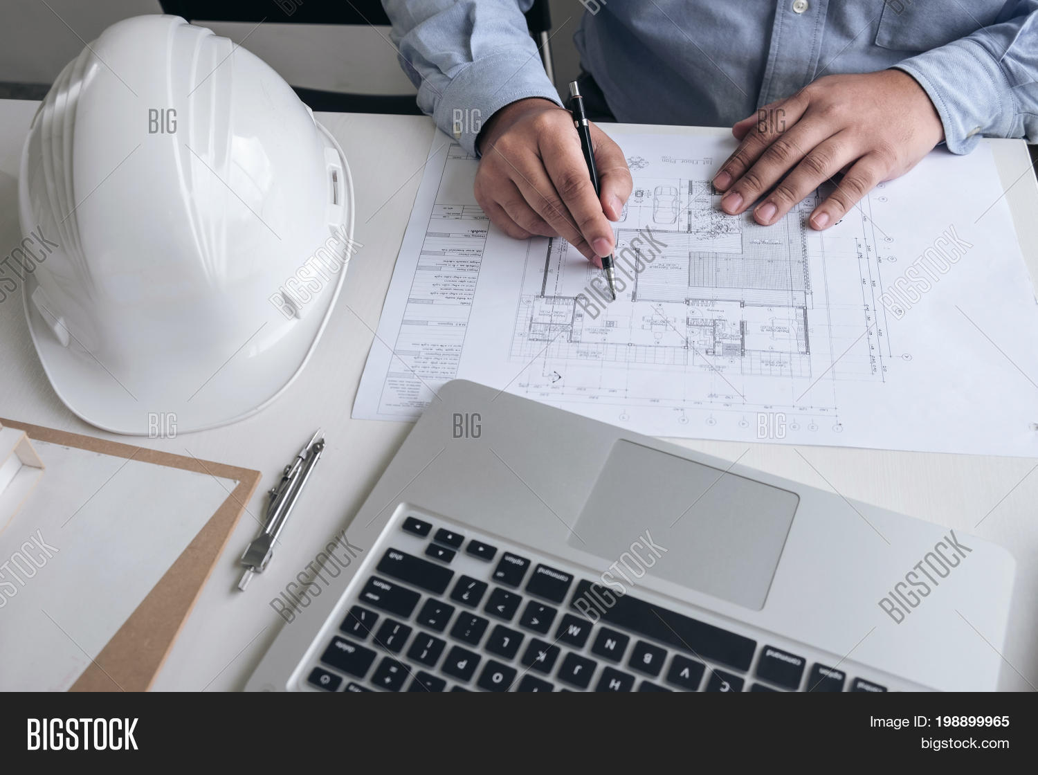 Engineering creative architect image photo bigstock engineering or creative architect in construction project engineers hands working on construction blueprint and building model malvernweather Gallery