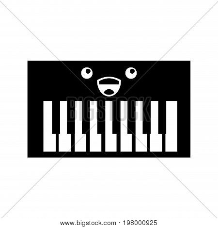 Synth console kawaii character vector illustration design
