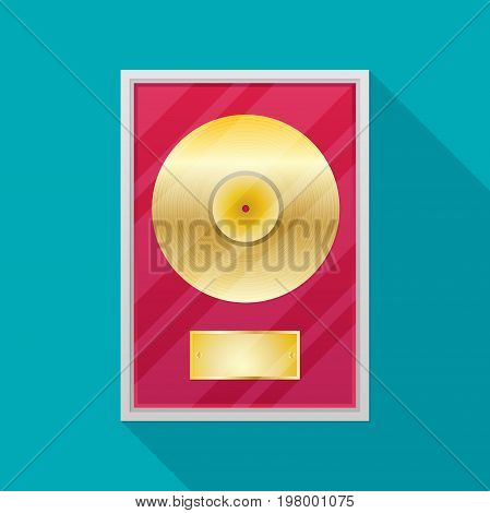 Flat vinyl disk. Vector icon for design