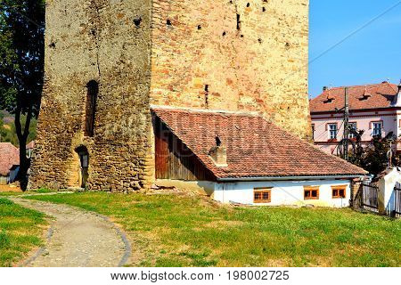 Medieval fortified saxon church Saschiz Keisd, Transylvania. The fortified church is a church in Keisd Wurmloch in the Transylvania region of Romania. It was built by the ethnic German Transylvanian Saxon community.
