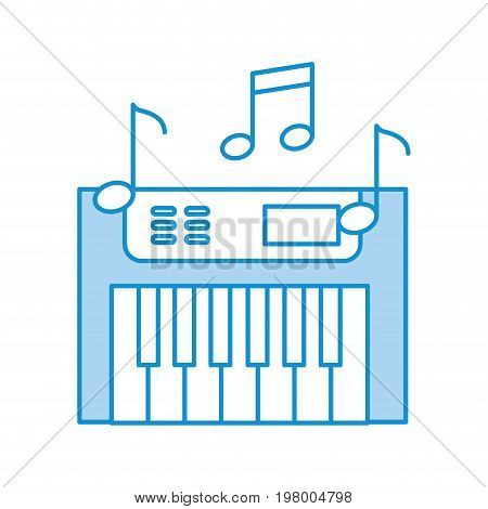 Synth console with notes vector illustration design
