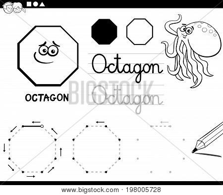 Octagon Basic Geometric Shapes Coloring Page