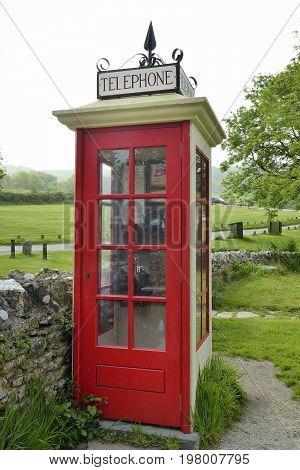 Restored K1 Mark 236 Telephone Box Restored Wartime Telephone Kiosk Tyneham Dorset