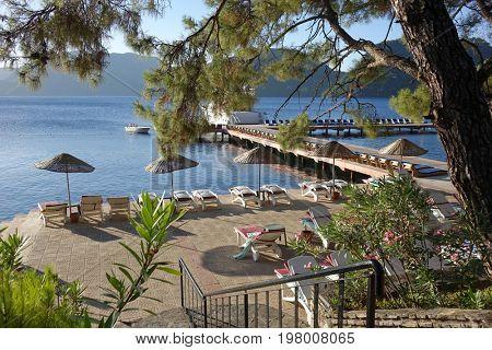 Summer vacation on the Marmaris beach, Turkey