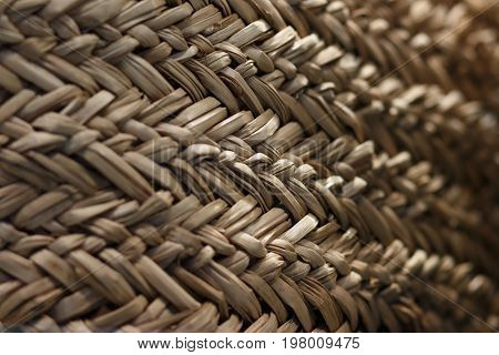 Texture Of A Wicker Basket.