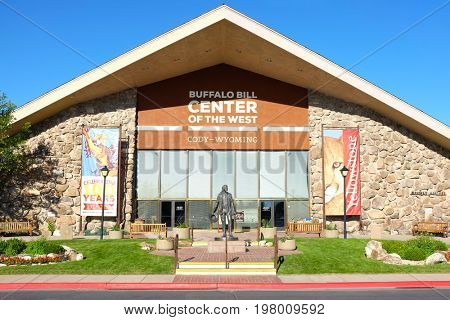 CODY, WYOMING - JUNE 24, 2017: Buffalo Bill at the Center of the West. A complex of five museums and a research library featuring natural history, art and artifacts of the American West.