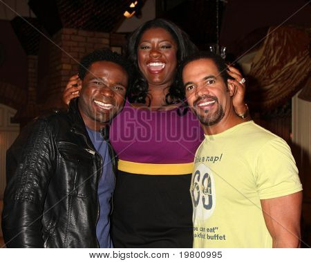 LOS ANGELES - MAR 24:  Darius McCrary, Julia Pace Mitchell, Kristoff St John at the Young & Restless 38th Anniversary On Set Press Party at CBS Television City on March 24, 2011 in Los Angeles, CA