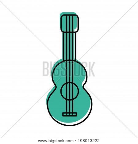acoustic guitar isolated icon vector illustration design