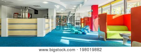 Library With Individual Study Space