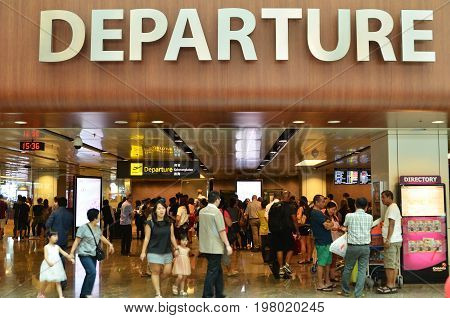 Departure Hall In Terminal 1 In Changi Airport