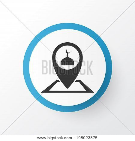 Premium Quality Isolated Pinpoint Element In Trendy Style.  Place Icon Symbol.