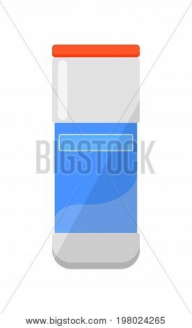 Cleaning chemicals isolated icon in flat style. House cleaning tool, housework supplies vector illustration