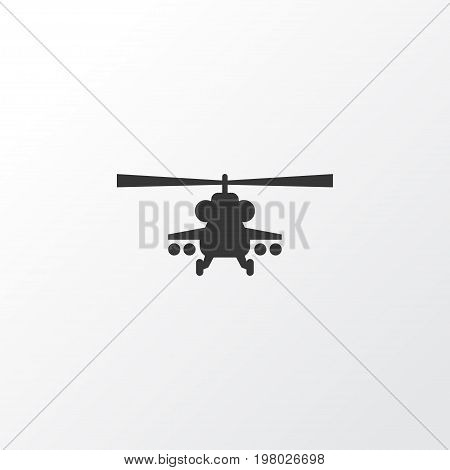 Premium Quality Isolated Chopper Element In Trendy Style.  Helicopter Icon Symbol.