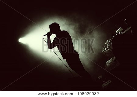 Artist In Stage Lights