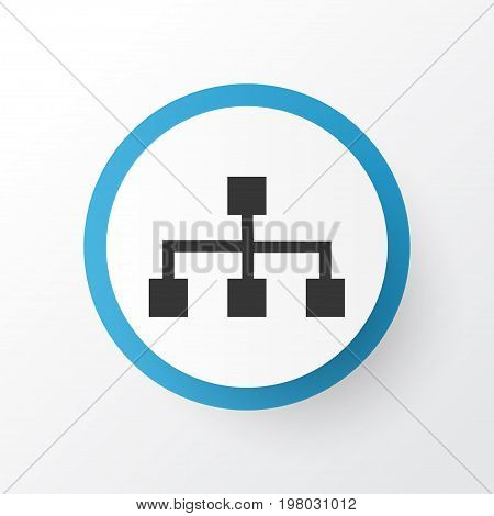Premium Quality Isolated Hierarchy Element In Trendy Style.  Structure Icon Symbol.