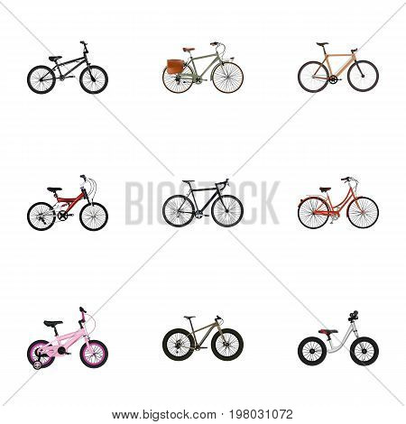 Realistic Bmx, Adolescent, Working And Other Vector Elements