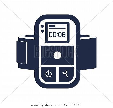 Digital audio player isolated vector icon. Outdoor activity, nature traveling equipment element.