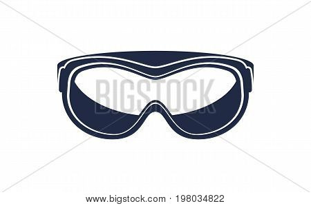 Climbing safety glasses isolated vector icon. Outdoor activity, nature traveling equipment element.