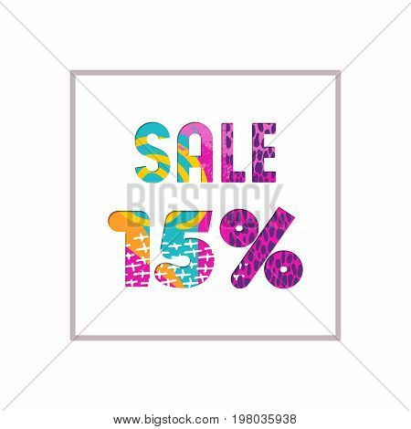 Sale 15% Off Color Quote For Business Discount