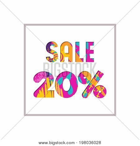 Sale 20% Off Color Quote For Business Discount