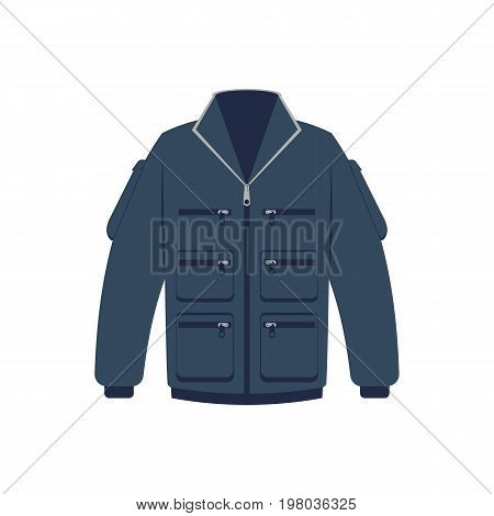 Winter jacket isolated vector icon. Outdoor activity, nature traveling equipment element.