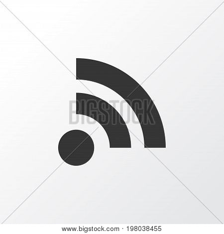 Premium Quality Isolated Wifi Element In Trendy Style.  Feed Icon Symbol.