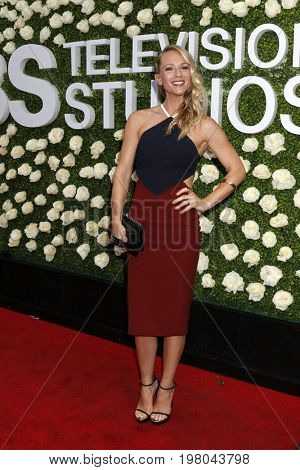 LOS ANGELES - AUG 1:  AJ Cook at the CBS TV Studios Summer Soiree TCA Party 2017 at the CBS Studio Center on August 1, 2017 in Studio City, CA