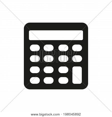 Icon of engineering calculator. Electronic device, calculation, arithmetic operations. Science concept. Can be used for topics like business, accountancy, mathematics