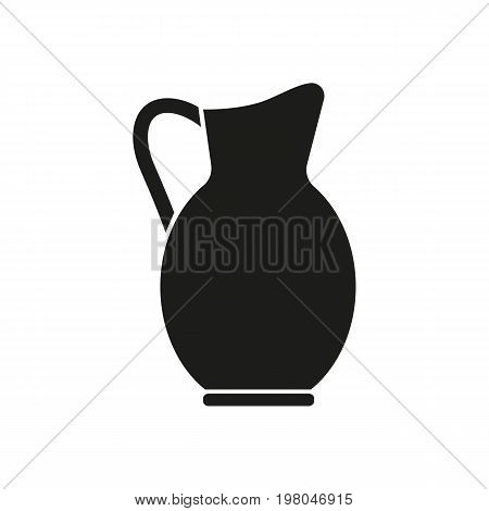 Icon of jug for beverages. Pitcher, container, antique. Beverages concept. Can be used for topics like decoration, drink, refreshment